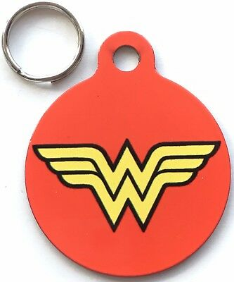 Wonder Woman Official Marvel & DC Comics - Dog/Cat Pet ID Tag 25mm