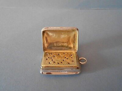 Antique Solid Silver Vinaigrette - Nathanial Mills