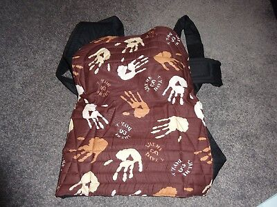 Mei Tai Baby Slings. Palm & Pond Brown Hand Print Design . Soft Baby Carriers