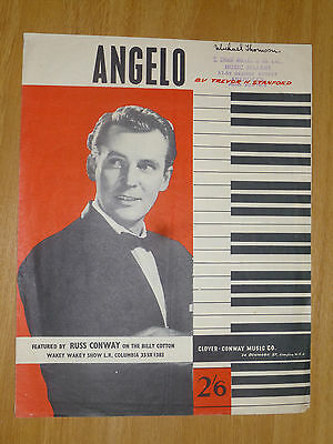 "Russ Conway sheet music: ""Angelo"" - original composition"