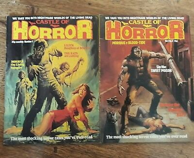 """Castle of Horror # 1 and 4 """" 1978 """""""