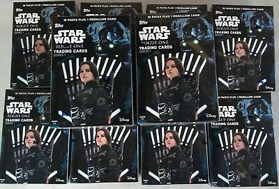10 Box Lot 2016 Topps Star Wars Rogue One Series 1 Factory Sealed Blaster w/ Hit