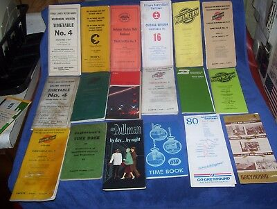 Lot of Railroad Time Tables some Employee Chicago and Northwestern others + more