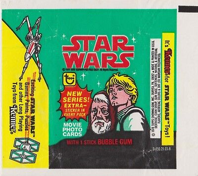 1978 Star Wars Trading Card Wrapper - Green and Yellow