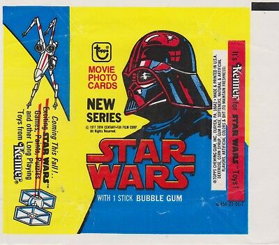 1977 Star Wars Trading Card Wrapper - Blue and Yellow