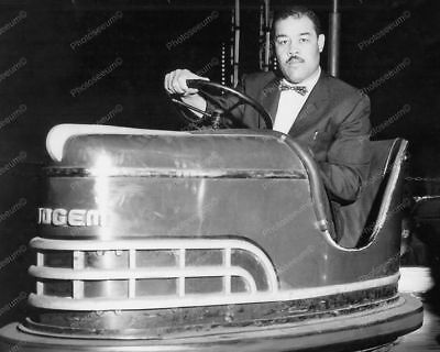 Bumper Car Dogem Riden by the Brown Bomber Professional Photo Lab Reprint