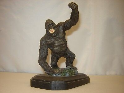 Finished GORILLA FIGURE STATUE Unknown Manufacturer WOOD As Pictured No Box