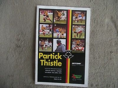 1992-93 (Apr) Partick Thistle v Falkirk  - Scottish Premier Division