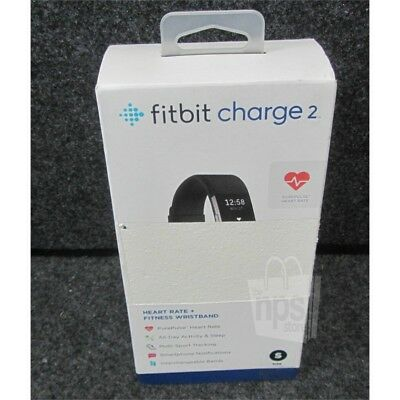 Fitbit FB407SBKS Charge 2 Wireless Heart Rate & Fitness Wristband Small Black
