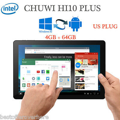 "CHUWI HI10 PLUS 10.8"" Win10+Android 5.1 4GB/64GB Tablet PC Quad Core Tipo C HDMI"