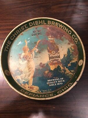 Christ. Diehl Beer Tray from Defiance Ohio