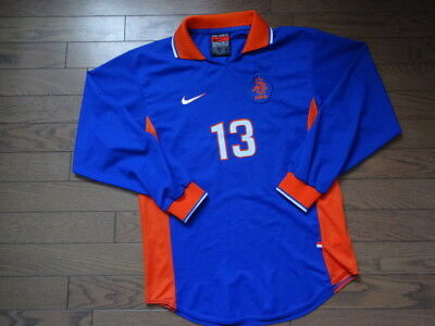 Netherlands Holland 100% Authentic Player Issue Soccer Jersey 1997 Away M LS NEW
