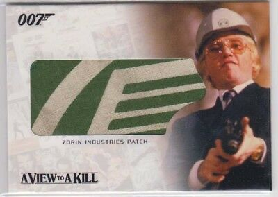 Zorin Industries Patch Screen Used 007 Bond Rittenhouse Relic Card Rc09 !