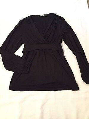 Long Sleeve black Nursing Top Size S