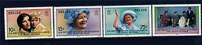 Belize 1985 Life & Times Queen Mother SG827/30 MNH