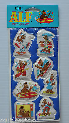 ALF Puffy Sticker Sheet SEALED MINT 1988 RUSS -Guardians of Galaxy Cassette Deck