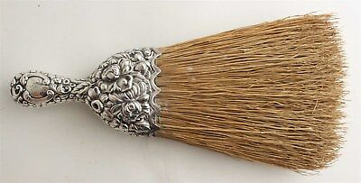 Antique Sterling Silver Whisk Brush Gorham Repousse Chrysanthemum Vanity Piece