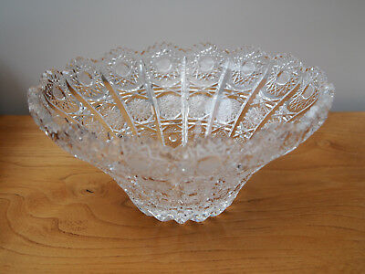 Bohemia Lead Crystal Queen Lace 8.5 inches Tapered Bowl - Cut Glass - Exquisite