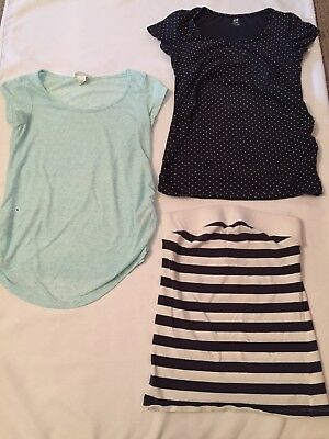 3 Maternity Tops/tshirts NEXT H&M size S/8