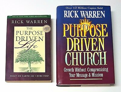 Lot of 2 books: Purpose Driven Life and The Purpose Driven Church by Rick Warren