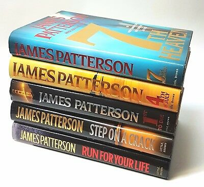 Lot of 5 James Patterson Hardcover Books -  Good and Very Good Condition