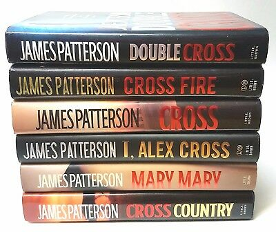 Lot of 6 James Patterson Hardcover - Part of the Alex Cross Series -VG Condition
