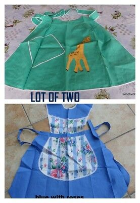 LOT 2 Ladies Genuine retro vintage aprons French UNUSED Ideal gifts