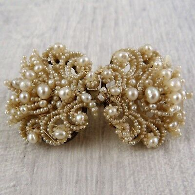 Stunning Antique Victorian Seed Pearl Brooch Spares Repairs, c.1860
