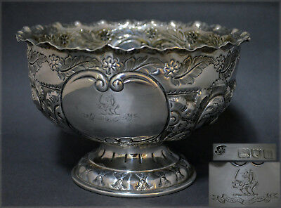 English Victorian Sterling Silver Rose Bowl Wakely Clarke Wheeler Xcellent Cndtn