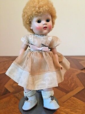 GINNY MUFFIE Doll Blonde Poodle Curly Hair Orig Clothing Great Condition!
