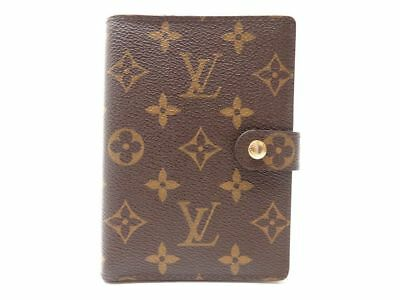 Porte Agenda Louis Vuitton En Toile Monogram Lv Marron Canvas Diary Cover 255€