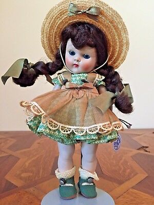 GINNY Doll Lucy #39 Brown Hair Organdy Dress Hat with TAG AND BOX!!!