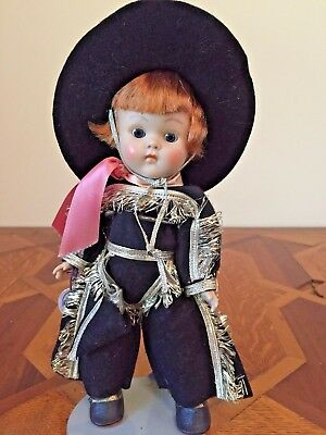 GINNY MUFFIE Doll 1951 Western Boy Original Black Outfit Hat With Tag!!!