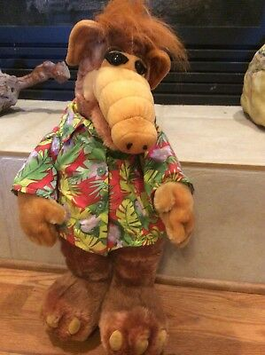 "ALF 2002  Plush Stuffed Large 22"" Hawaiian Shirt Toy 1980's T.V. Show Nancy"