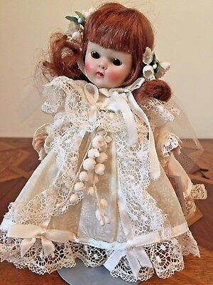 GINNY MUFFIE Doll Bride Lace Wedding Dress With Original Tag!