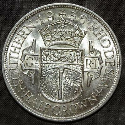 Africa Southern Rhodesia George V Half Crown 1936 Uncirculated.