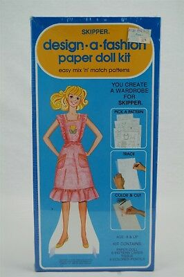 Whitman Skipper Design A Fashion Paper Doll Kit 1982 New in Sealed Box