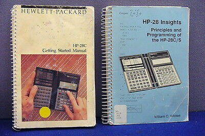 "Two Vintage Hp Manuals For Hp-28C Calculator, "" Getting Started/hp-28 Insights """