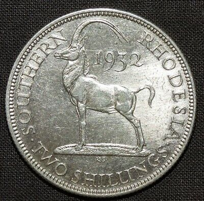 Southern Rhodesia George V 2 Shillings Ad 1932 Unc .
