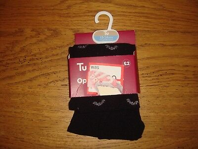 BNIP Halloween Tights Black with Silver Bats Age 18-24 months