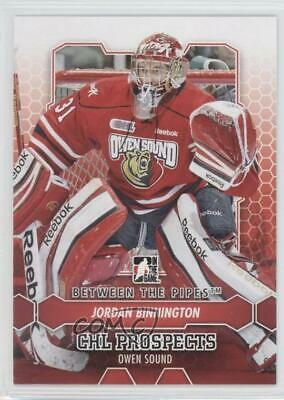 2012 In the Game Between Pipes 45 Jordan Binnington Owen Sound Attack (OHL) Card
