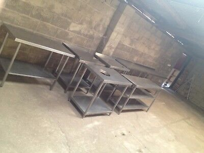stainless steel catering tables joblot x8 tables