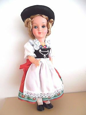 Vintage Celluloid Doll Sleep Eyes Ethnic Clothing Collectible