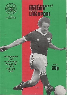 LEAGUE OF IRELAND v LIVERPOOL 18.08.79 EXC FRIENDLY