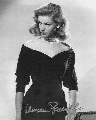 Lot of 10 (Ten)  8x10 signed  actresses photos (L. Bacall, L.Caron, J.Fontaine)