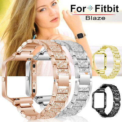 Stainless Steel Strap Replace Watchband + Metal Frame For Fitbit Blaze Tracker