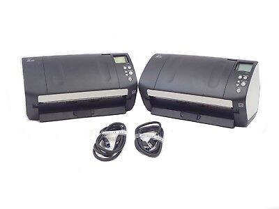 Lot of 2 Fujitsu Fi-7160 USB 3.0 Color Duplex Scanner PA03670-B055 With Issues