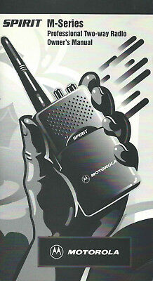 Motorola Spirit M-Series Professional Two-way Radio Owners Manual