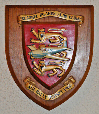 Jersey International Air Rally 1964 wall plaque shield Channel Islands Aero Club