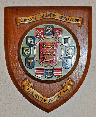 Jersey International Air Rally 1965 wall plaque shield Channel Islands Aero Club